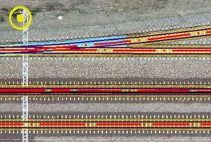 Ortofotomapa z drona pomiar na kolei