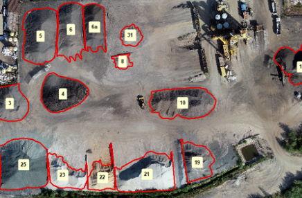 Jak wygląda pomiar objętości kruszyw za pomocą drona?